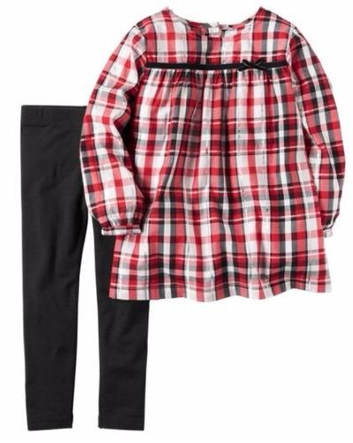 conjunto carter´s camisa y pantalón metalizado