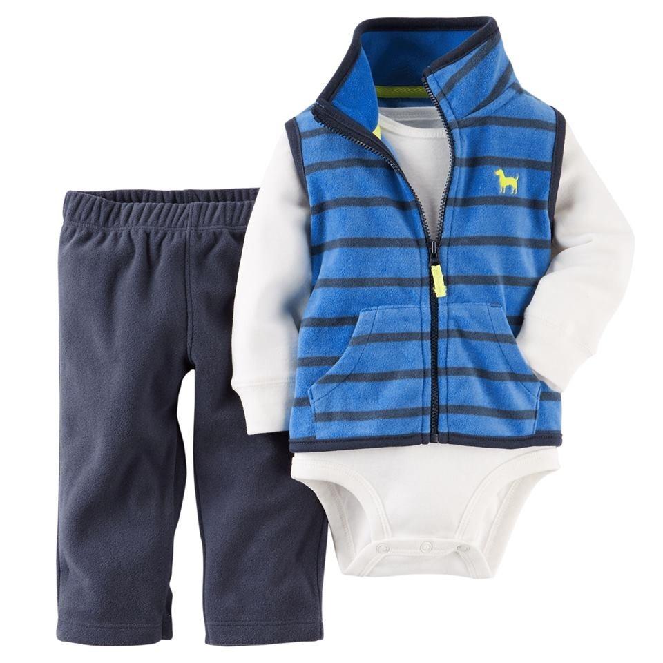 conjunto carter´s nene  body + chaleco y pantalon m  polar. Cargando zoom. 886d58f1aed