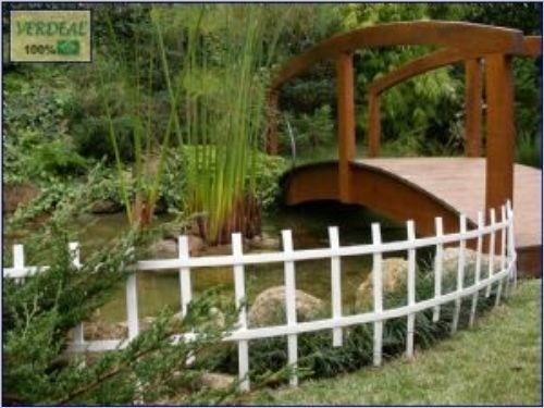 cerca para jardim branca : cerca para jardim branca:Conjunto Cerca Branca Treliça Para Jardim-1,08mx35cm Altura – R$ 19