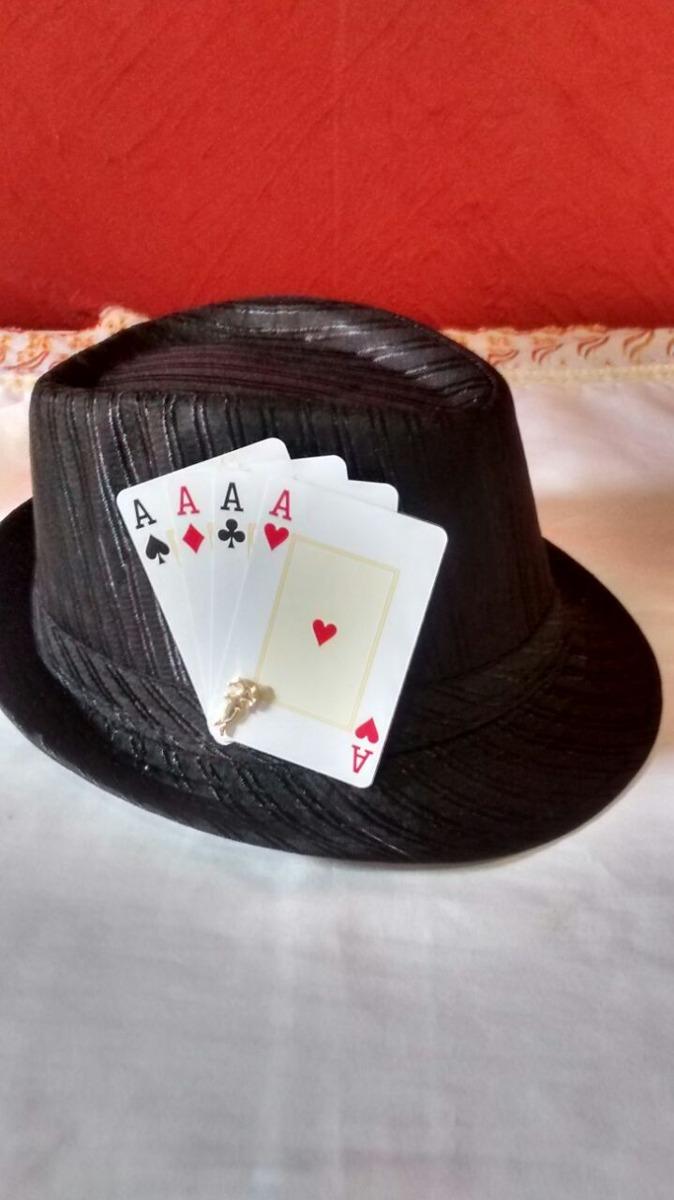 conjunto chapeu e gravata ze pilintra e ze pretinho. Carregando zoom. 13f905f0f84