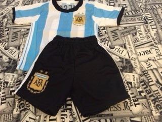 conjunto chicos afa argentina messi estampado