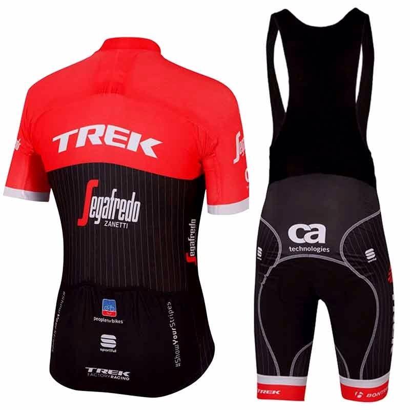mejor amado completo en especificaciones Super descuento Conjunto Ciclismo Bretelle Camiseta Trek Vermelho - P/m/g/xg