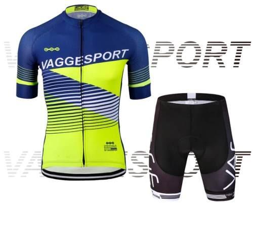 8b84a458a49f0 Conjunto Ciclismo Masculino Fluorescente Camisa + Bermuda - R  224 ...