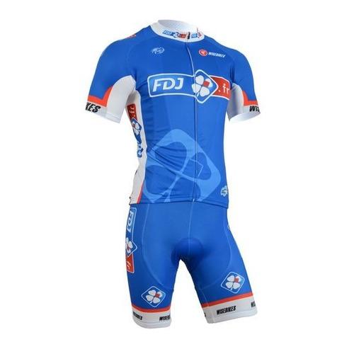 conjunto ciclismo tricota + malla fdj oferta nuevo!