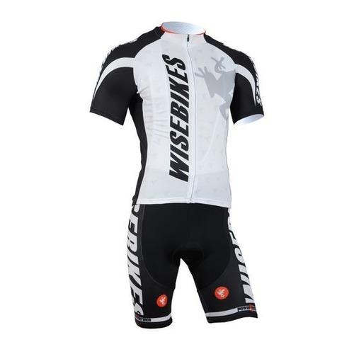 conjunto ciclismo tricota + malla wb white nuevo