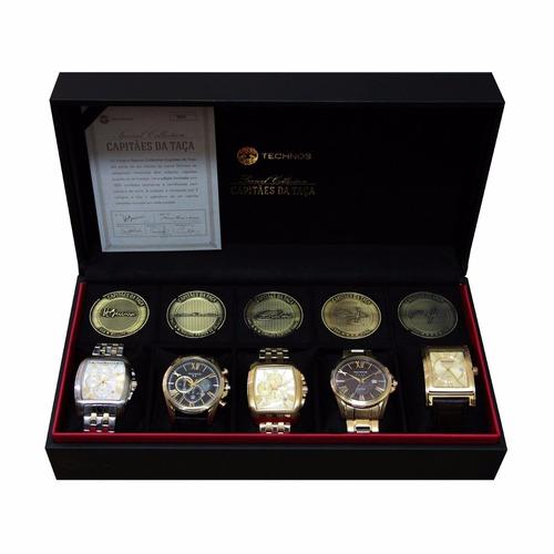 conjunto cinco relógios capitães da taça technos ed especial