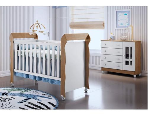 conjunto cômoda fraldário ariel e berço mini cama d