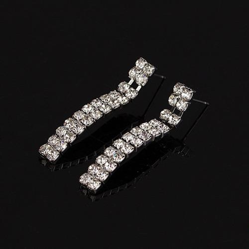 conjunto colar + brincos noiva debutante strass linda