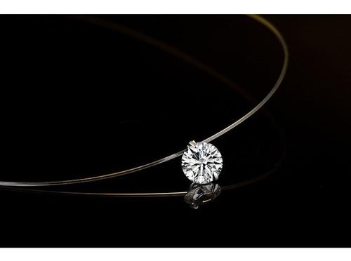 conjunto colar e brinco ponto de luz prata 925 cordão nylon