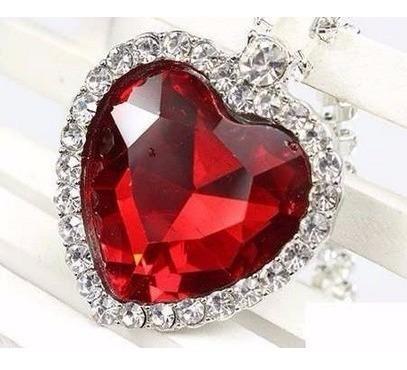 conjunto colar feminino + brinco coração prata 929 zirconia