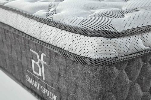 conjunto colchão molas ensacadas + base box courvin solteiro