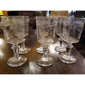 Conjunto Com  6 Taças Em Cristal Saint Louis Para Vinho Port