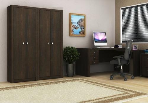 conjunto com 1 mesa e 2 armários fechados p/ escritório aa