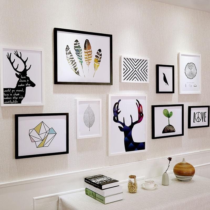 conjunto com 10 molduras porta retrato de parede r 280 14 em mercado livre. Black Bedroom Furniture Sets. Home Design Ideas