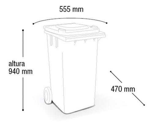 conjunto com 4 cestos para coleta seletiva de 120 litros