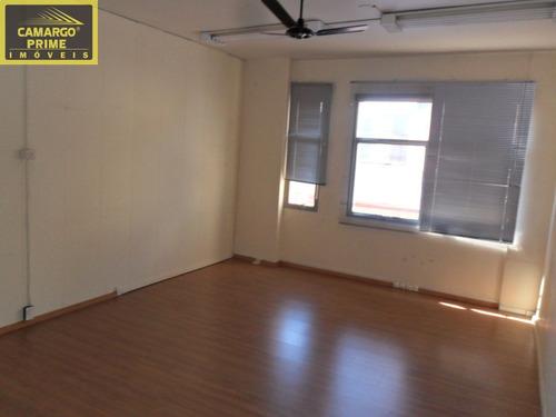 conjunto comercial com 96,42 metros, piso de carpete de madeira, reformado! - eb82074