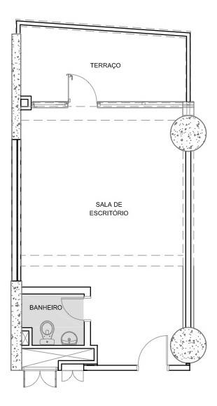 conjunto comercial de 45m2 na região da av. paulista
