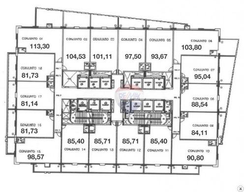 conjunto comercial para venda e locação, vila cordeiro, são paulo - cj0017. - cj0017