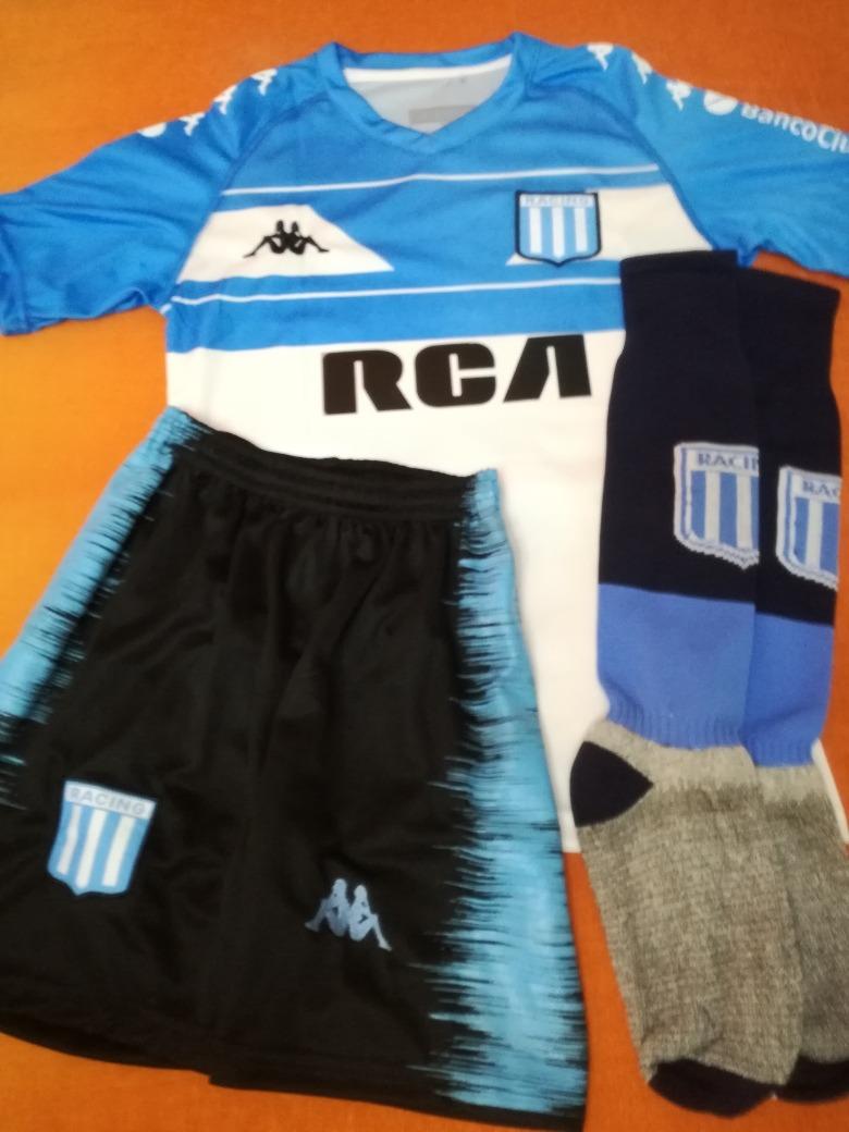 conjunto completo camiseta short y medias racing club niños. Cargando zoom. 740a698d8dd38