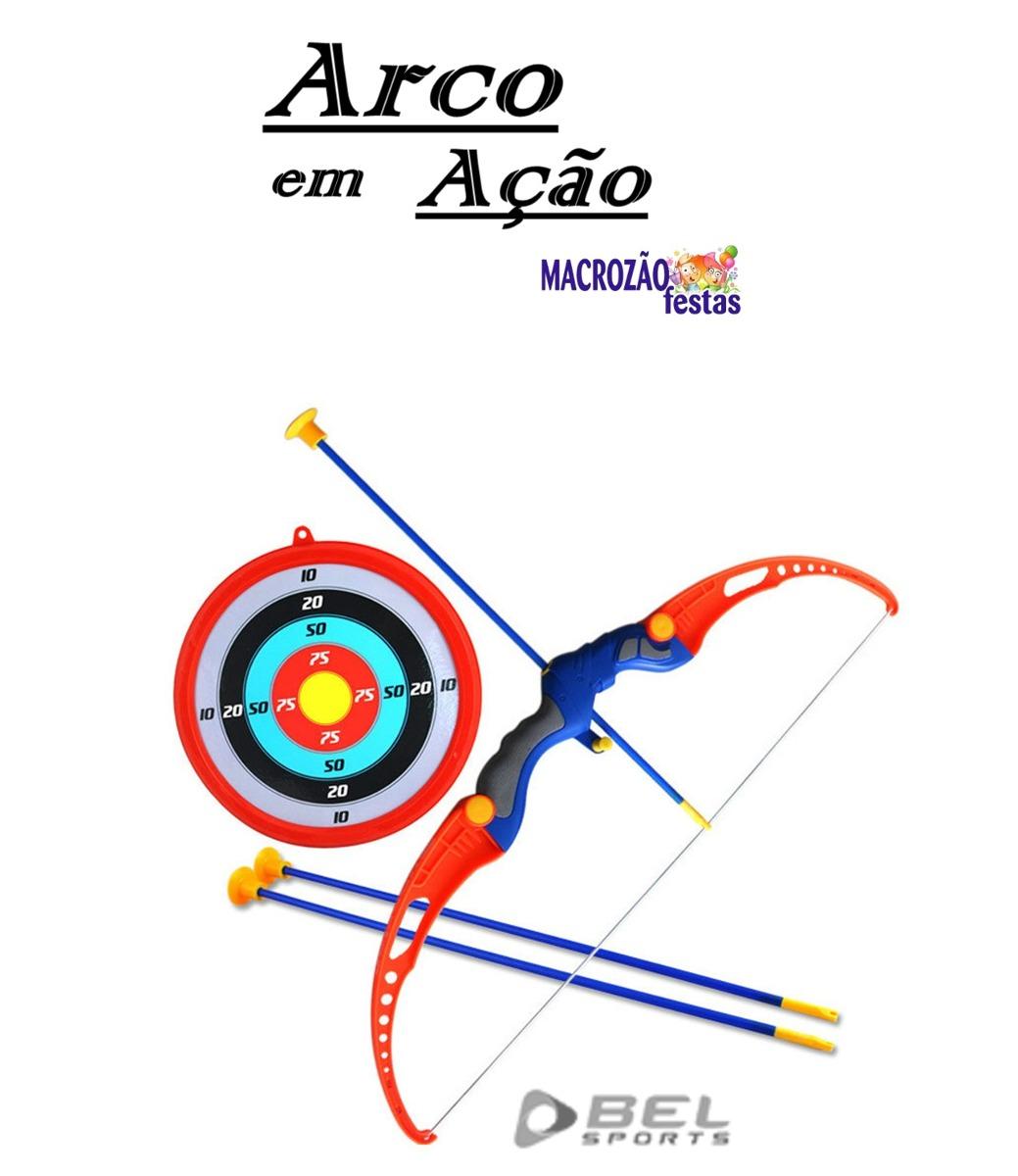 53cf584e6c8 Conjunto Completo De Arco E Flecha Bel Fix Original Envio Já - R$ 95 ...