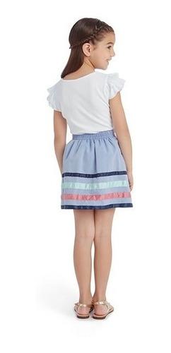 conjunto con falda grafito girls pr-4734052