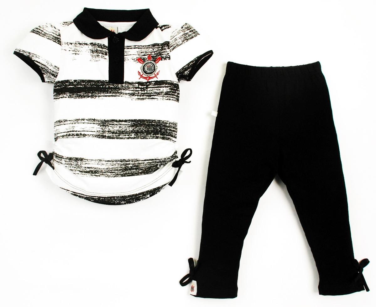conjunto corinthians infantil bata + legging oficial menina. Carregando  zoom. 38bd4bfe323f6