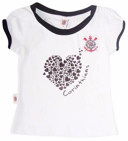 Conjunto Corinthians Infantil Short Saia Oficial Menina - R  119 b37add4e49f11