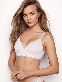 7c189948c1e3 Conjunto Corpiño Push-up Leve Blanco 34c 90-95 + Panty Vs M Victoria Secret