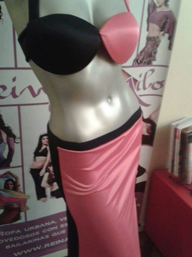 conjunto corpiño y falda danza arabe belly dance