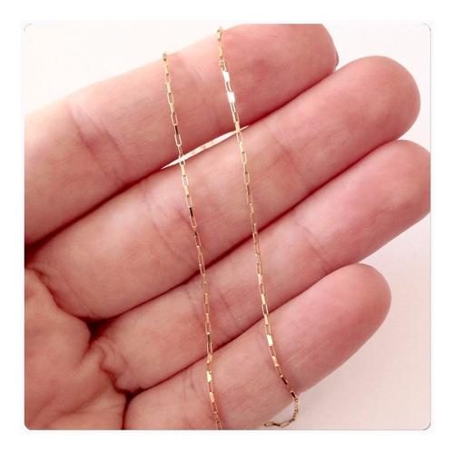 conjunto corrente e pulseira elo quadrado de ouro 18k 750