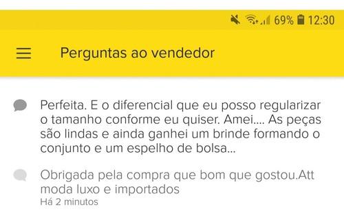 conjunto corrente elo português grosso com pingente