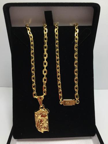 conjunto corrente pulseira cadeadinho banhada ouro 18k