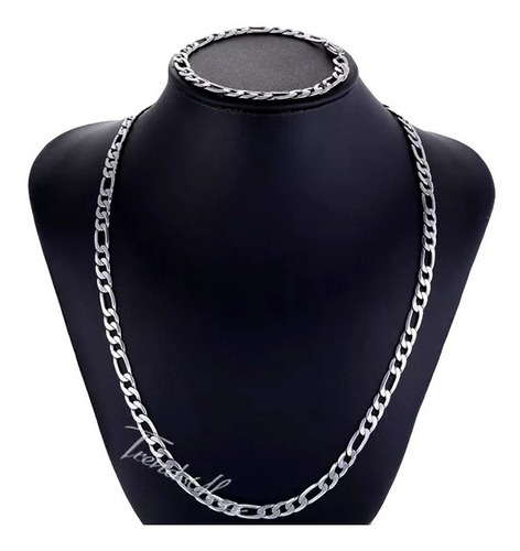 conjunto corrente pulseira masculina 3x1 aço inox ref 325