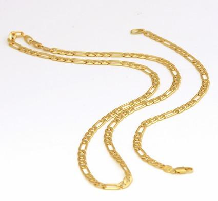 conjunto corrente pulseira masculina 6mm banhado a ouro 18k
