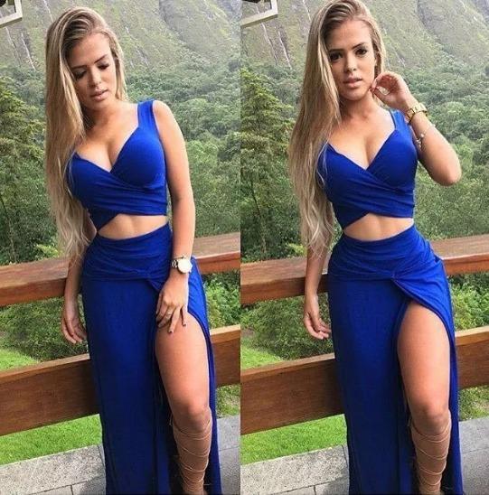 0fa8f405c7 Conjunto Cropped Saia Longa Fenda   Vestido Macacão  +brinde - R  79 ...