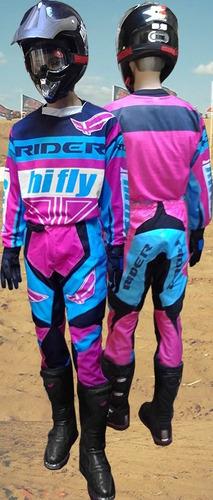 conjunto cross enduro damas chicas mujer rosa solo fas motos