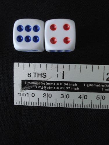 conjunto dados rpg 16mm 10  unidades bozó tabuleiro