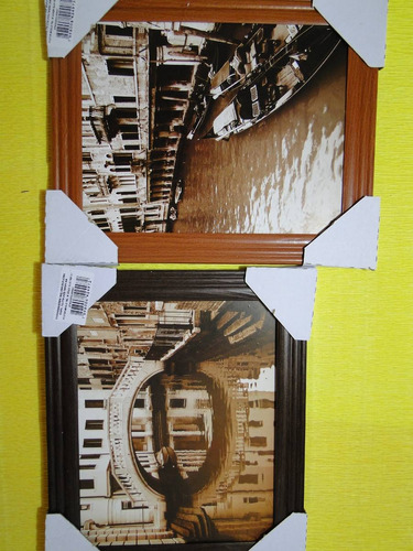 conjunto de 02 quadros de veneza na italia com gondola