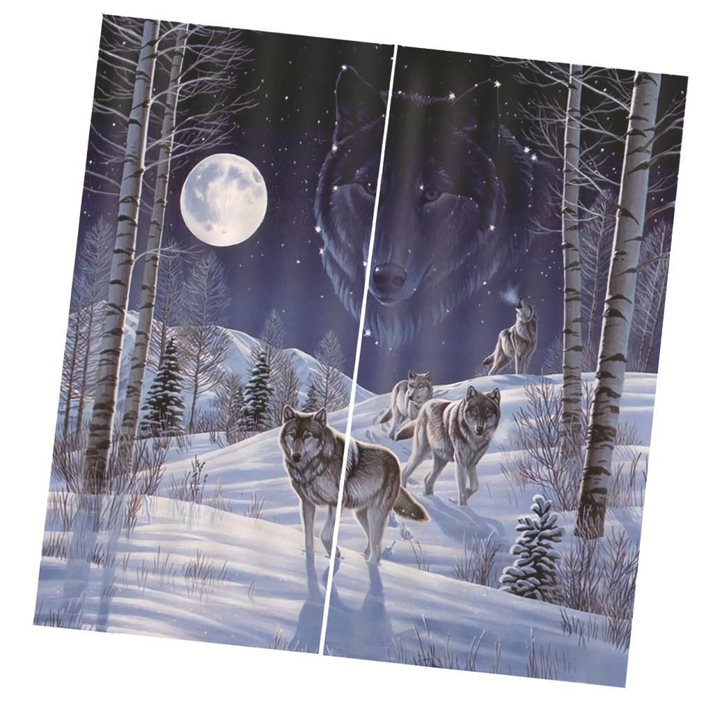 fc7fa126d50 Conjunto De 2 Paneles De Impresión Digital Cortinas Animal