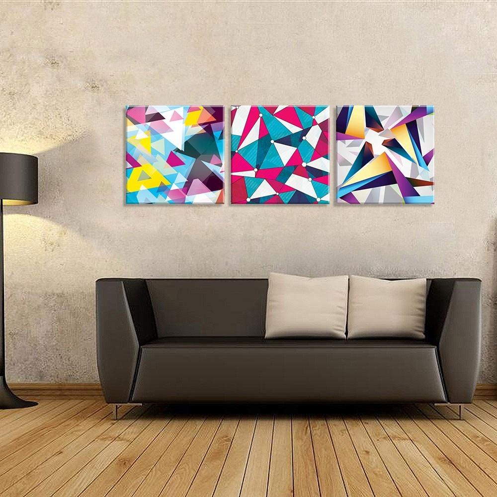 8b339cfb4 conjunto de 3 telas decorativas em canvas abstrato. Carregando zoom.