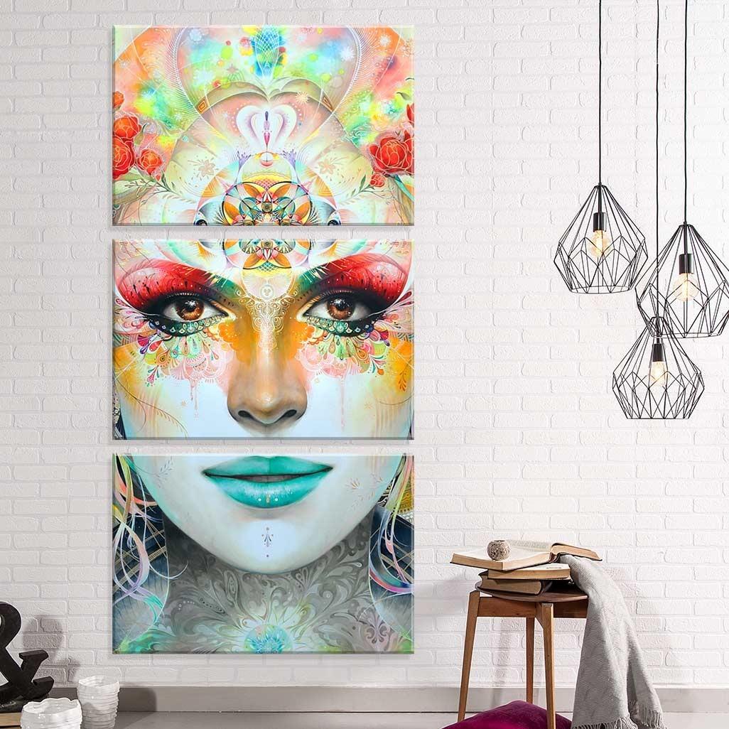 11a8eaa3f conjunto de 3 telas decorativas em canvas ganesha. Carregando zoom.