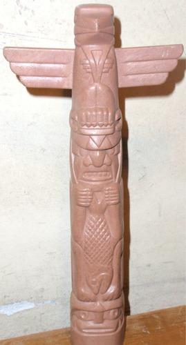 conjunto de 3 totems indios material plastico artesania