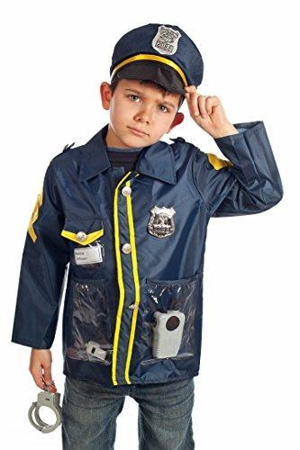 conjunto de 3 trajes de policía rescate bombero