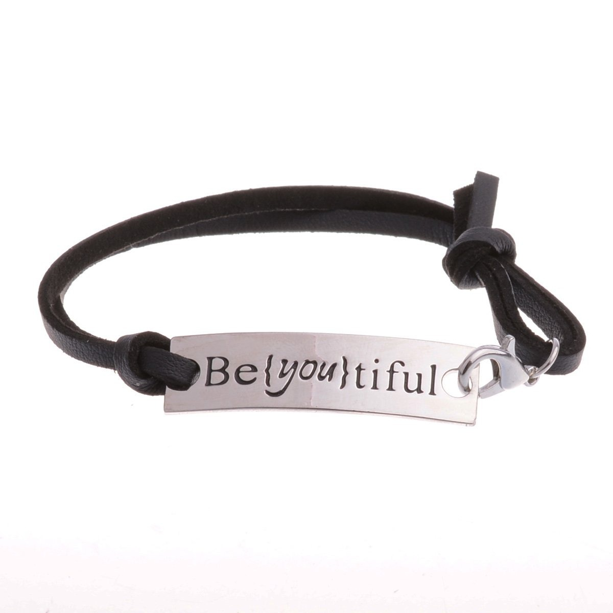 90407e19f905f Conjunto De 4 Inspirational Charm Bracelet Quote Motivation -   766 ...