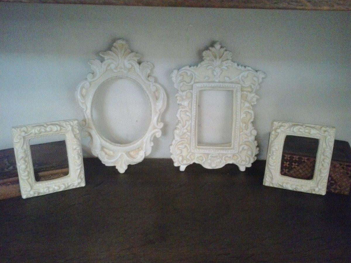 Conjunto De 4 Marcos Estilo Antiguo Frances Arena Y Blanco - $ 550 ...