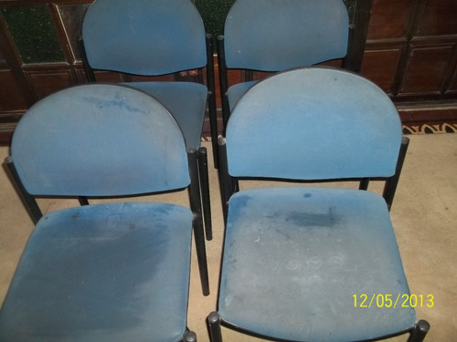 conjunto de 4 sillas oficina sala espera u hogar