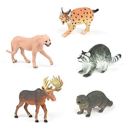 Conjunto De 5 Figuras De Animales Realistas 7 Animales 74999 En