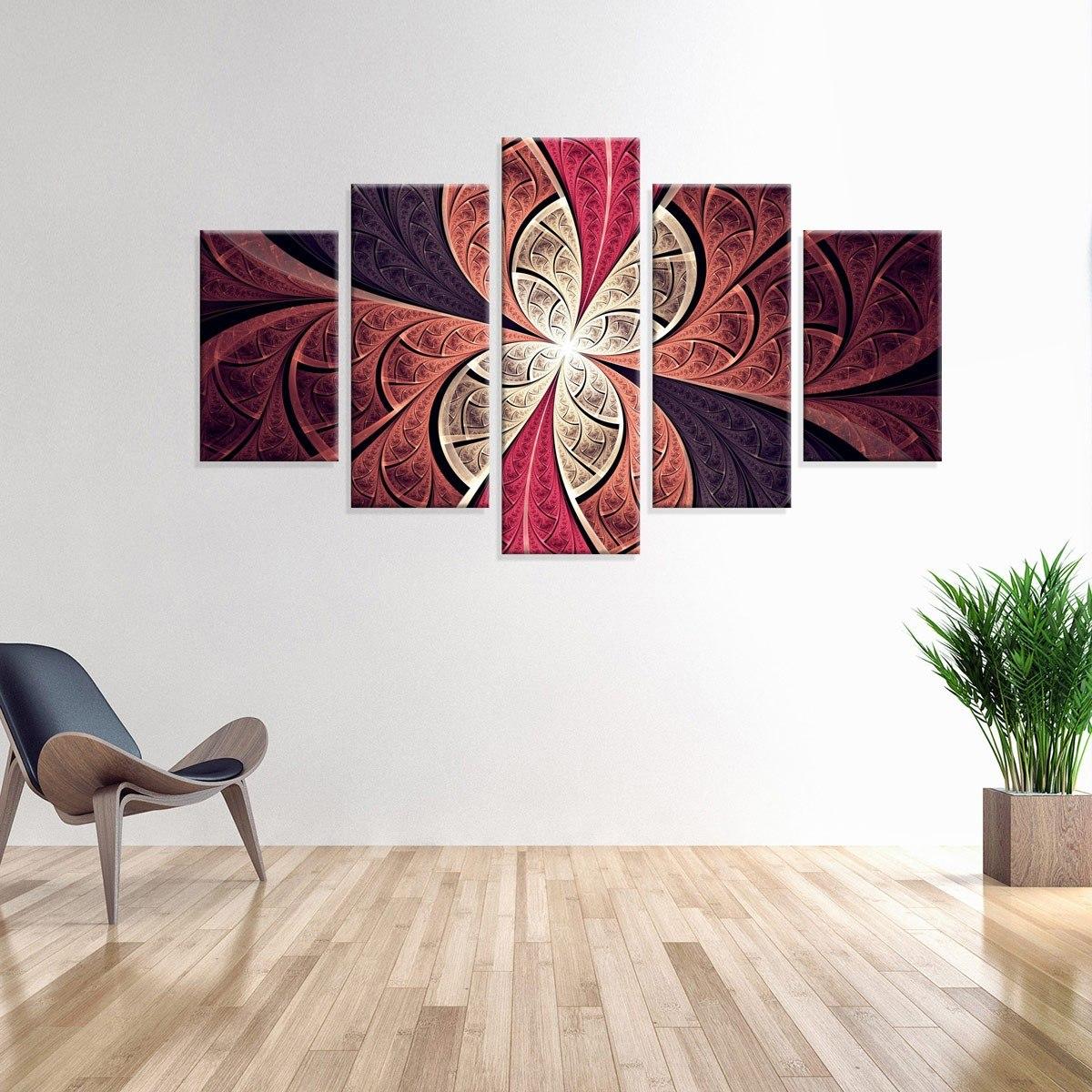 6e77769e9 conjunto de 5 telas decorativas em canvas abstrato rose. Carregando zoom.
