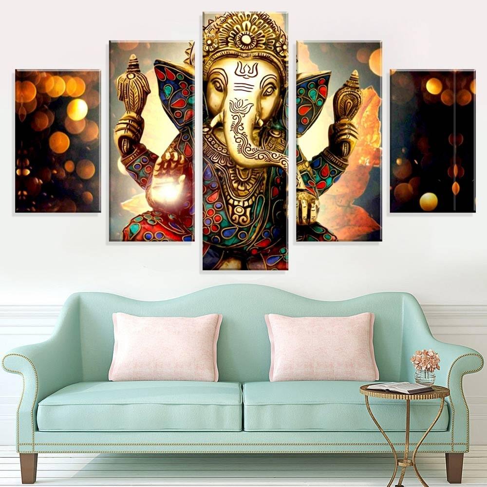 b3a9764cb conjunto de 5 telas decorativas lord ganesha love decor. Carregando zoom.