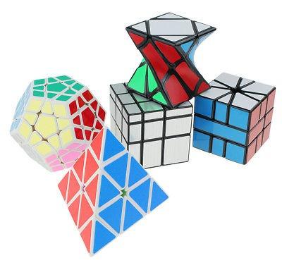 conjunto de 5 traje de cubo mágico cubo megaminx pirámide es